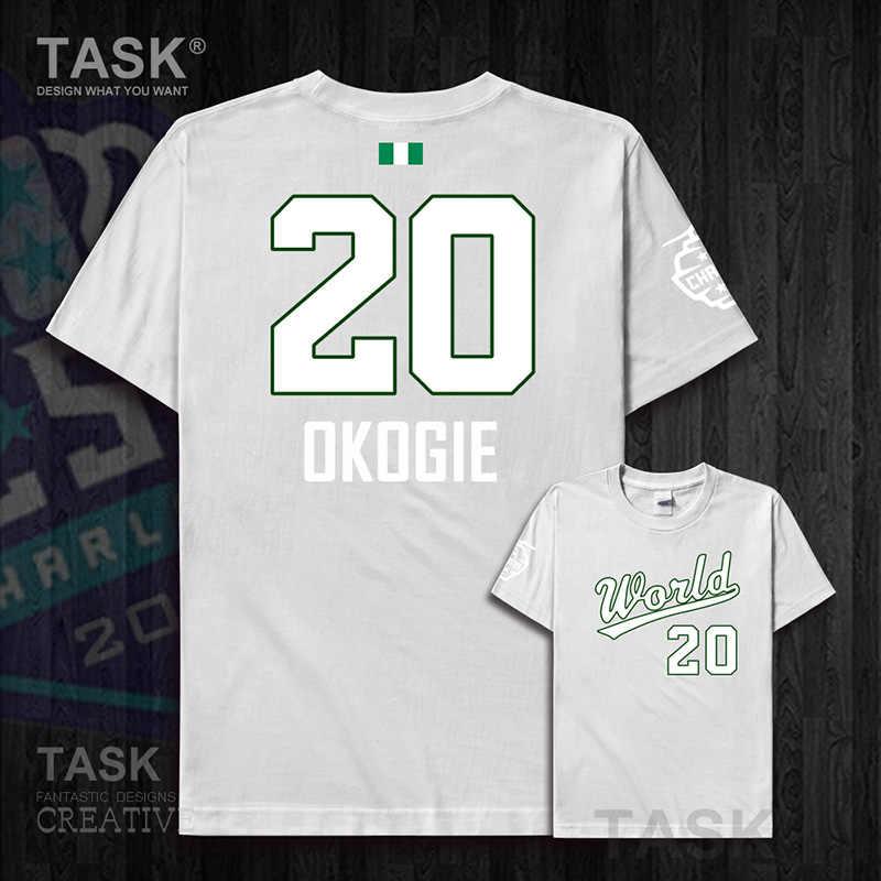 Josh nam áo Okogie Nigeria basketballer Ngôi Sao Thế Giới Đội Mỹ Tân Binh Áo Thun Nữ Cotton áo quần áo Áo thun người hâm mộ cao cấp