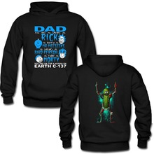 Father's Day Gift Hoodies Rick and Morty Funny Print Front and Back Both Side Print Men Movie Hoodie Pullovers Dad Gift Hooded