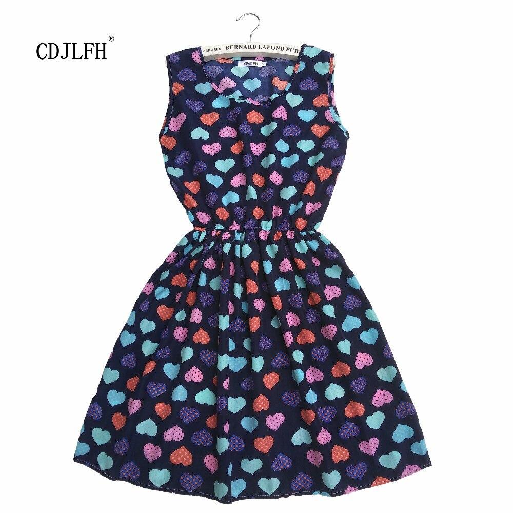 Buy Cheap CDJLFH Love peach Women Sexy black brief Print Summer Sleeveless Women vestido Brand Slim Dresses Clothing Beach Dress 2017