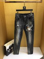 2018 new High Quality fashion Jeans Runway Summer man Brand Luxury Men's Clothing A08234