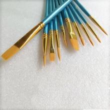 Beauty nail Painting Pen Set Drawing Artist brush pen 10pcs/set  Nylon Hair Paint Brush fit for Kids Student Watercolor Gouache
