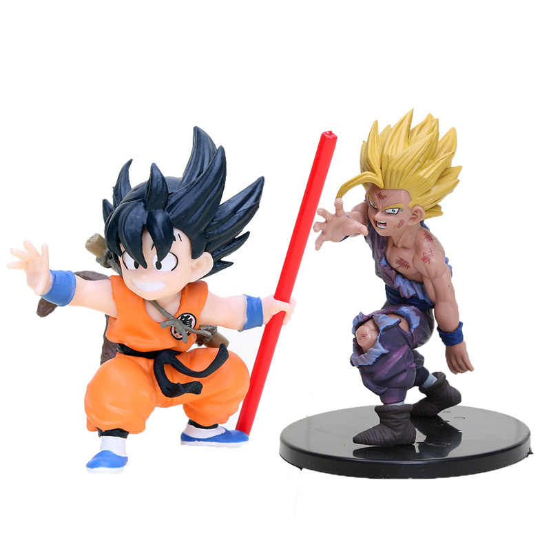 Anime Figura Dragon Ball Z Super Saiyan Goku Son Gohan Infância PVC Action Figure Collectible Modelo Toy Dragonball