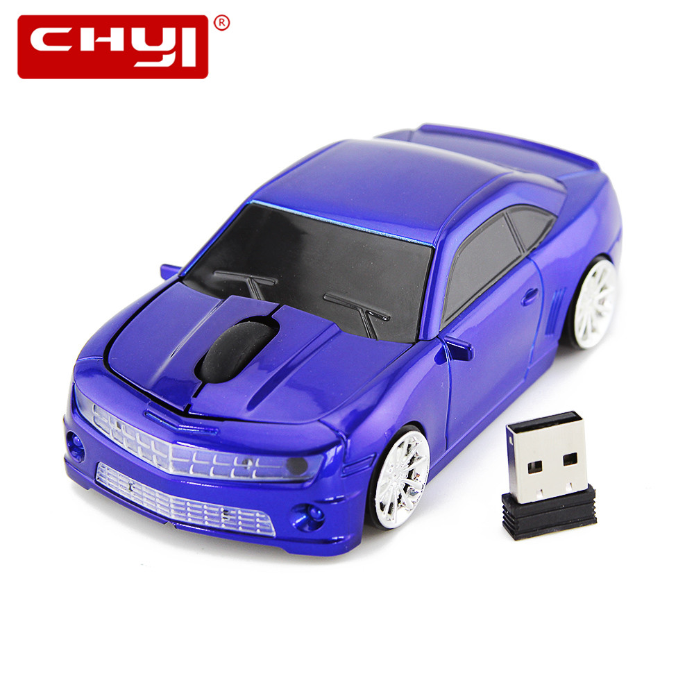 2.4GHz Wireless Mouse Super Racing Car Mouse 3 Buttons Computer Mice 1600 DPI Optical Mause With USB Receiver For PC Laptop