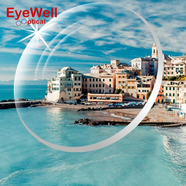 1.61 Índice Lente UV400 lentes de Resina Óptica Revestimiento Reflectante Lente Óptica lente de Los Vidrios de La Miopía Presbicia Lectura caliente