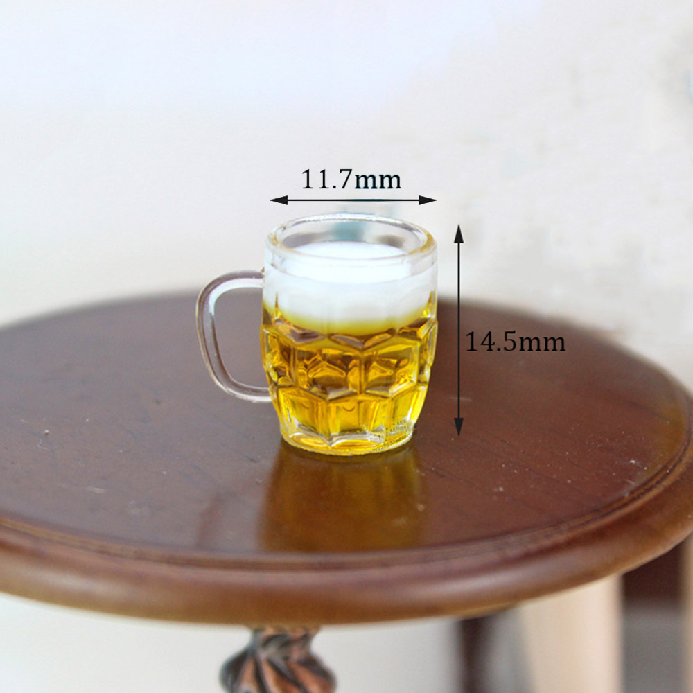 6Pcs Colorful Miniature Wine Cocktail Glass For 1//12 Dollhouse Drinking Bar Accs