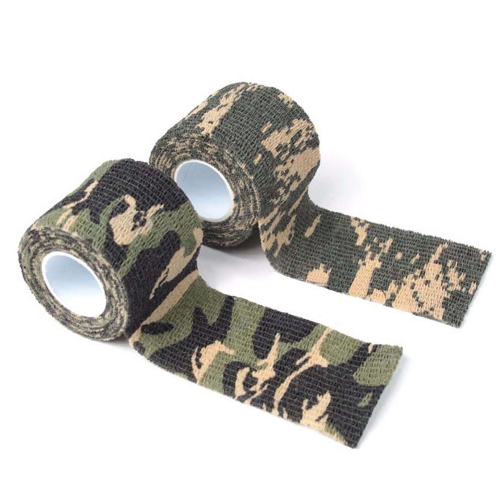 1roll Self-adhesive Camouflage Tape Camo Non-woven Cool Camping Waterproof Wrap Stealth Tape Hunting Conceal Tape 4.5mx5cm Клейкая лента