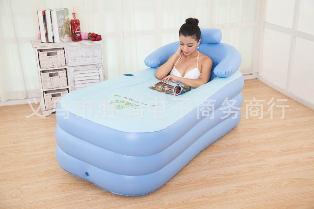 Inflatable Pool adult children keep warm Bathtub Portable bath tub ...