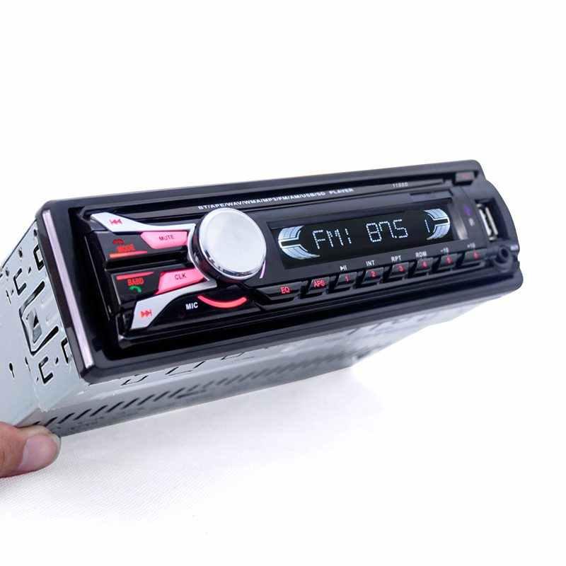 1188B Bluetooth lecteur Audio stéréo 1Din avec support pour téléphone Radio Fm intégré au tableau de bord lecteur Mp3 carte Aux/Usb/Sd avec télécommande