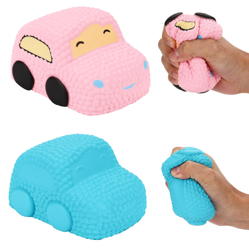 Squishy Stress Relief Toy Funny Kids Toy Car Cartoon Squishy Slow Rising Cream Scented Decompression Toys FEB14