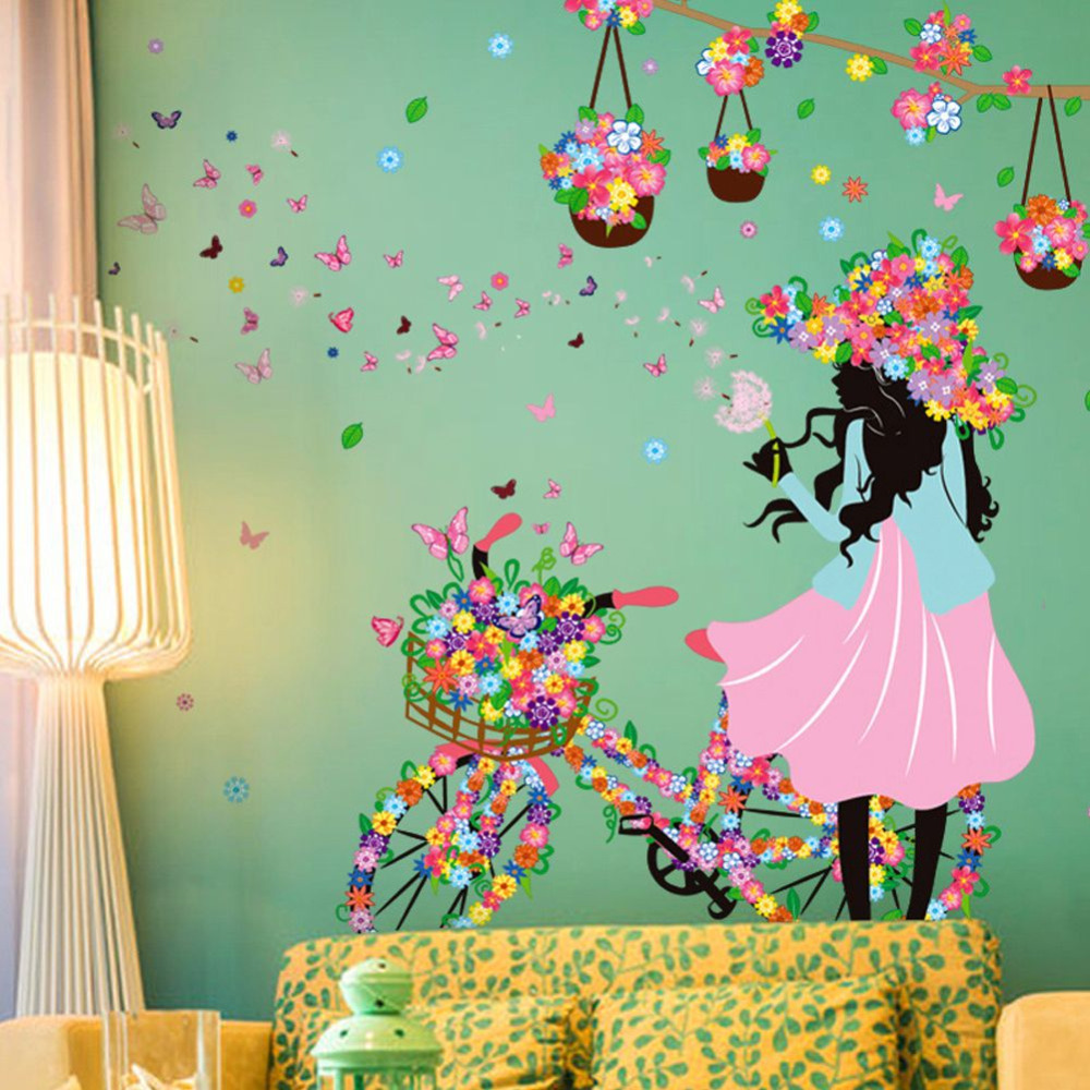 Baby Girl Nursery Removable Wallpaper Cycling Wallpapers Reviews Online Shopping Cycling