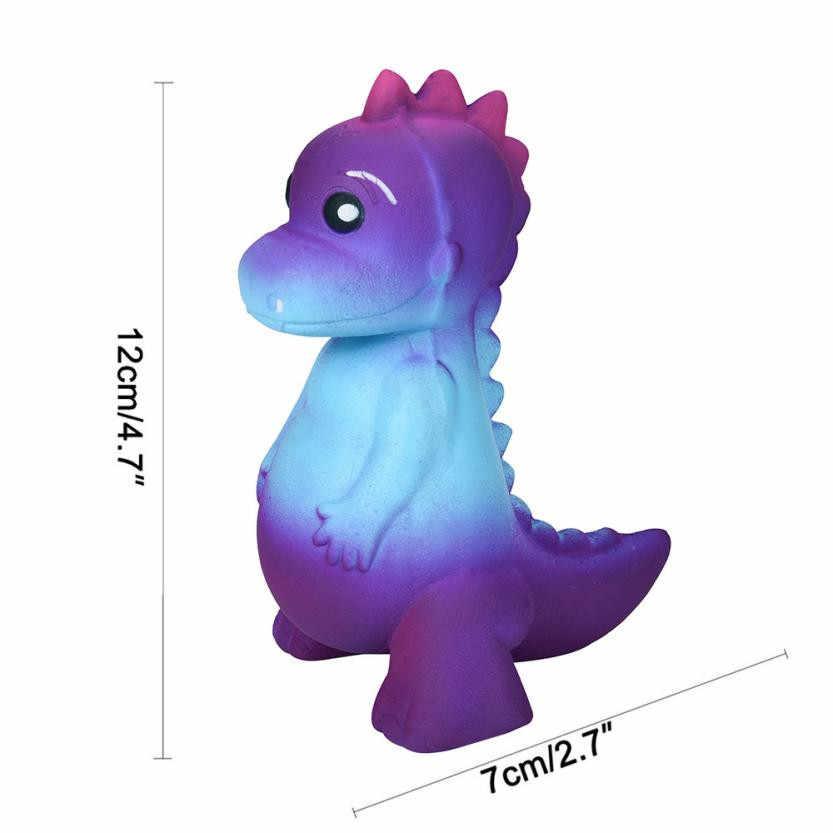 2018 chegam novas Galáxia Dinossauro Rex Macio Jumbo Perfumado Creme Super Lento Subindo Brinquedos