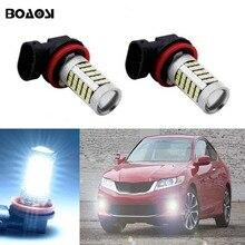 BOAOSI 2x Car Led H8 H11 Light Bulb Auto Fog Light Driving Lamp Light For Mitsubishi
