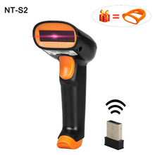 High quality Wireless Barcode Scanner 1d bar Code Reader 2.4G Laser Barcode Scanner with USB receiver for windows/MAC NT-S2