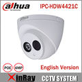 DaHua 4MP IP Camera IPC-HDW4421C Day/ Night infrared CCTV POE Camera Support IP67 Waterproof  1080P Dome Camera