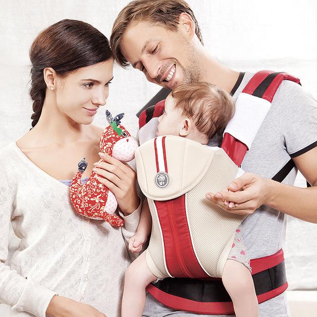 Big Sale 4 Cores Ombros Portador de Bebê Sling Infantil Criança Malha De Algodão Do Bebê Mochila Para os Caminhantes de Viagem de Presente de Natal