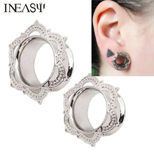 Ear Plugs 1 Pair Tunnels Piercing Dilations Fashion Body Jewelry Gauges For Women 6-16mm And Earrings