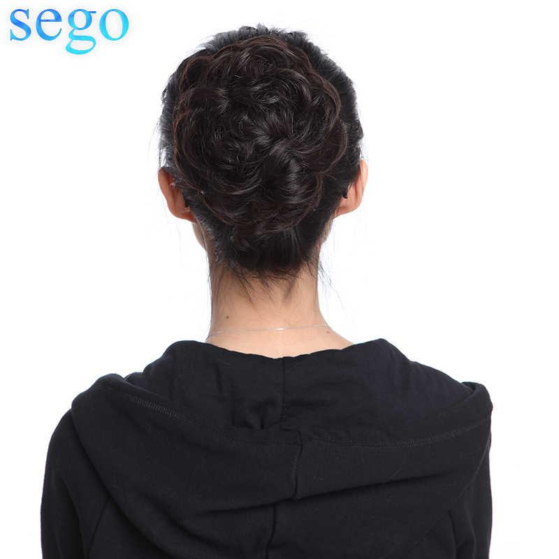 SEGO 23G pelo de Malasia Cola de Caballo rizada para mujeres Color Natural Chignon pelo no Remy 1 pieza Clip en cola de Caballo cabello humano 100%