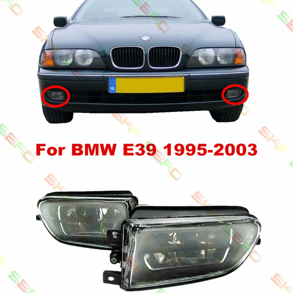 For BMW E39  1995-2003  car styling fog lights   1 SET  Crystal glass FOG LAMPS