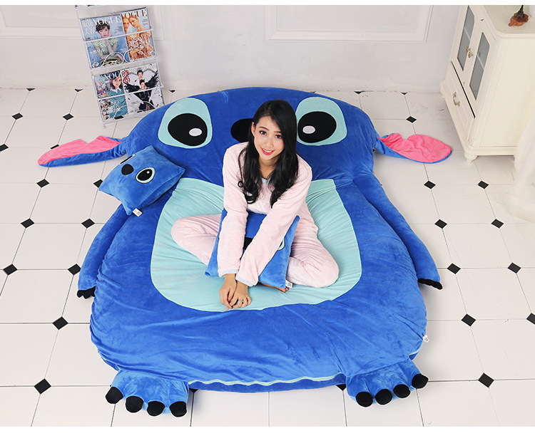 Cartoon Stitch mattress, cushion, lovely and comfortable size of Twin Queen Full комплект queen size комплект