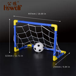 Hewolf складной мини Футбол мяч гол сообщение Чистая набор + насос детские спортивные домашние игр на открытом воздухе Игрушечные лошадки