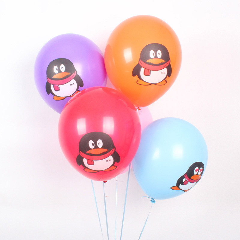 Hot Sale 10pcs/lot Printing Little Penguin Latex Balloon Party Supplies Wedding