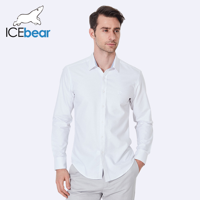 ICEbear 2017 Casual Shirts Single Breasted Anti-Pilling Men Shirts Business Casual Shirts Spring And Autumn HM02D