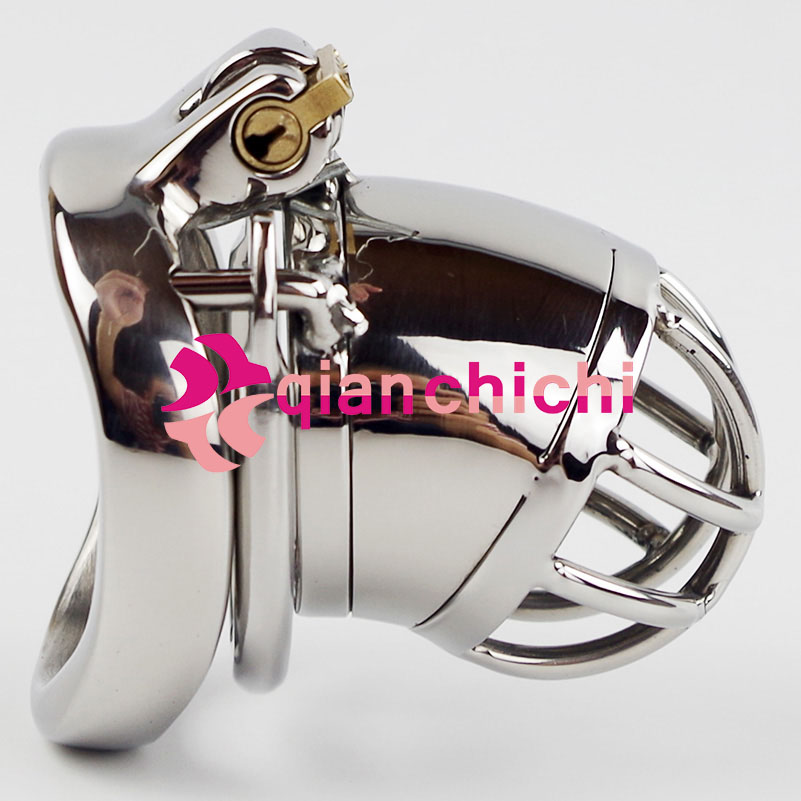 Male Chastity Device Stainless Steel Anti Off Version Short Paragraph Penis Lock Restraint Sex Ring for Men Cock Cage Male Chastity Device Stainless Steel Anti Off Version Short Paragraph Penis Lock Restraint Sex Ring for Men Cock Cage