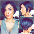 Charming short bob human hair  wigs with baby hair full lace human hair wigs bob for black women human hair lace front wig
