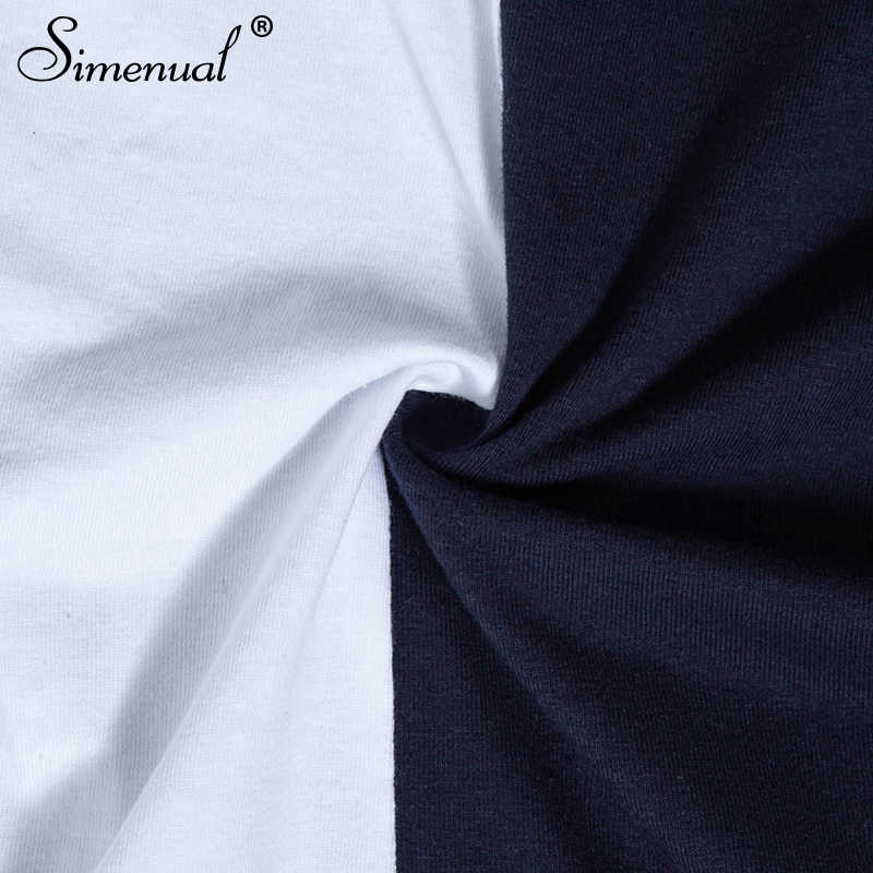 Женское боди Simenual, уличное осеннее трехцветное боди с длинным рукавом и полосками; женская одежда, 2019