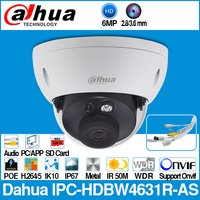 Dahua IPC HDBW4631R AS 6MP IP Camera POE IK10 IP67 Audio in/out & Alarm SD Card Slot Upgrade from IPC HDBW4431R AS with logo