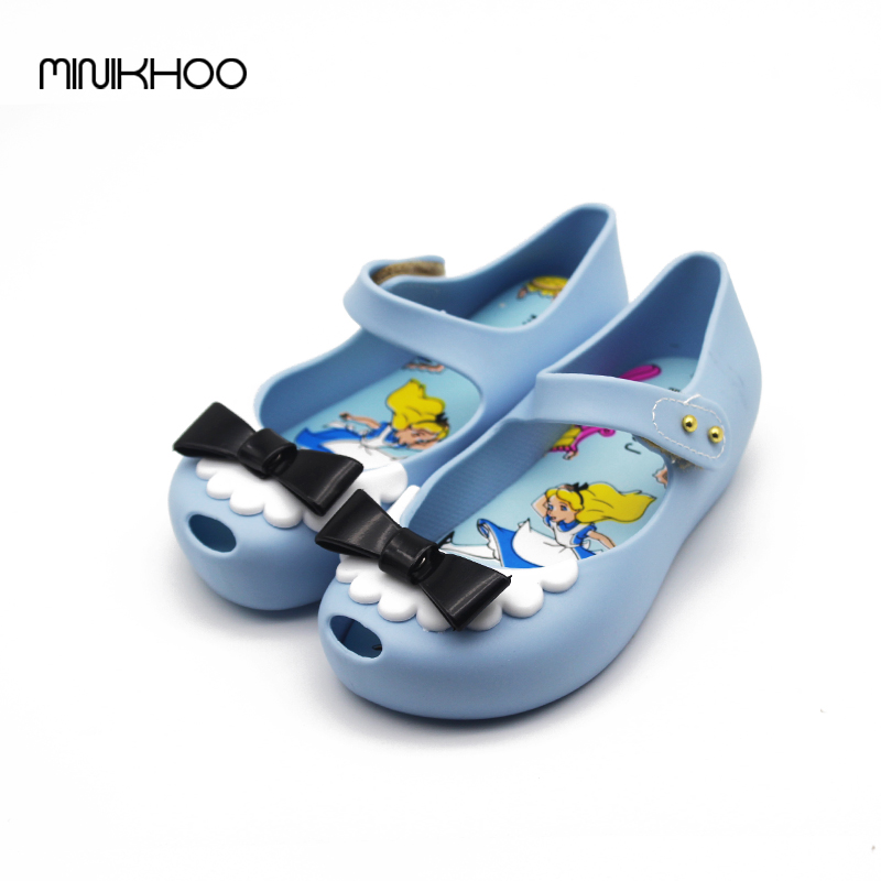 2 Color 2017 New Mini Melissa Jelly Sandals Children's Sandals Bow Fashion Princess Jelly Shoes Melissa Sandals Jelly Sandals