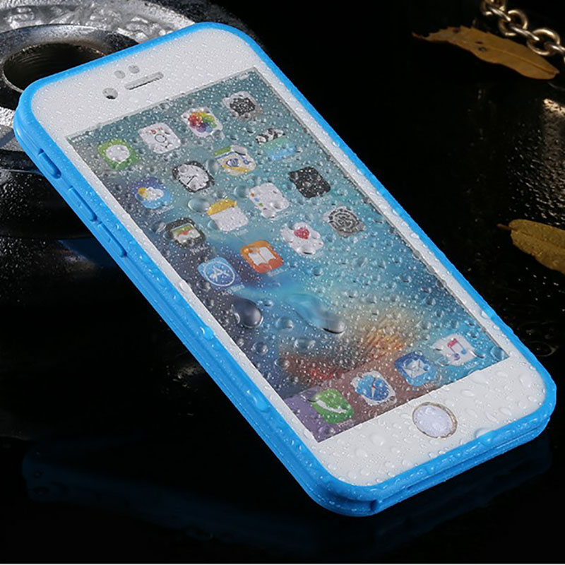 Anti shock Shockproof Dustproof Underwater Diving Waterproof Phone Cases Cover For iPhone 5S 6 6S 6 Plus 7 7plus 360 Full Case