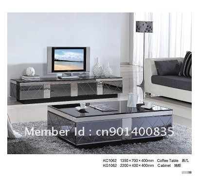 tv stand with coffee table modern style living room furniture-in