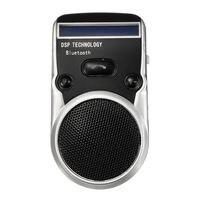 LEORY שמש Powered הדיבורית Bluetooth לרכב רמקול עם מיקרופון עבור הטלפון הסלולרי בחיוג Digtal