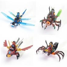 Insectos Wars ninjago Minifiguras Ninja Bloque de Construcción mini Nya Jay Kai Compatible lepines Juguetes para los niños