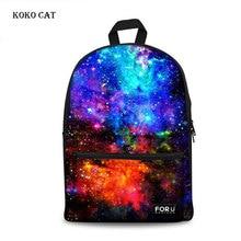 Ladies Backpack Canvas Galaxy Star Universe Space Printing Backpacks for Teenager Girls Daily School Bag Mochila Feminina