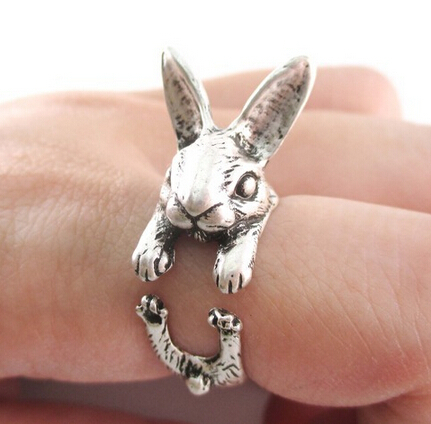 Madeliefjes One Piece Fashion Ring Bunny Rabbit Shaped Animal Around - Mode-sieraden - Foto 2