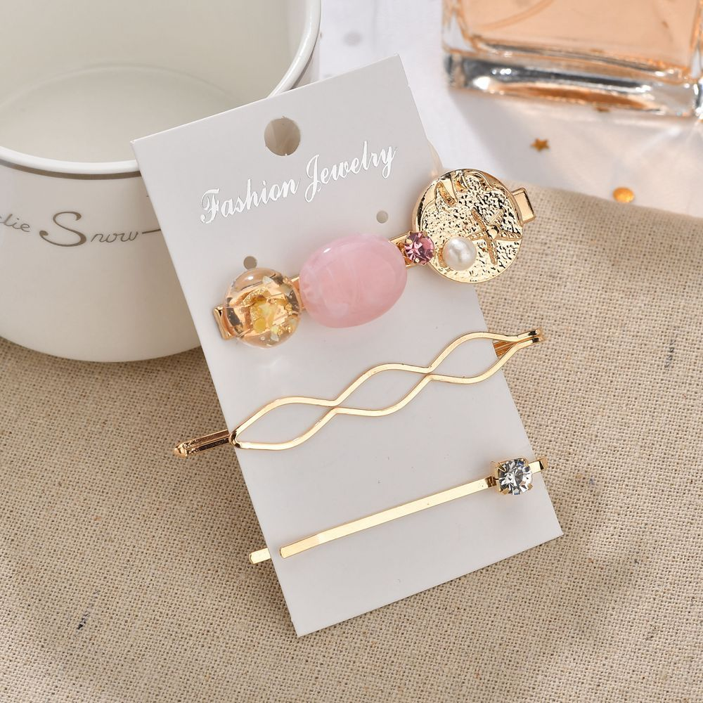 3Pcs Set Gold Bridesmaid Hair Accessories Cindy Color Hair Pin Clip Cute Girl Crystal Starfish Wedding Hairpins Sticks For Women in Hair Jewelry from Jewelry Accessories