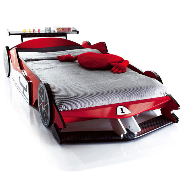 Free Shipping Real Wood Export Run Children Bed F1 Racing Car Bed