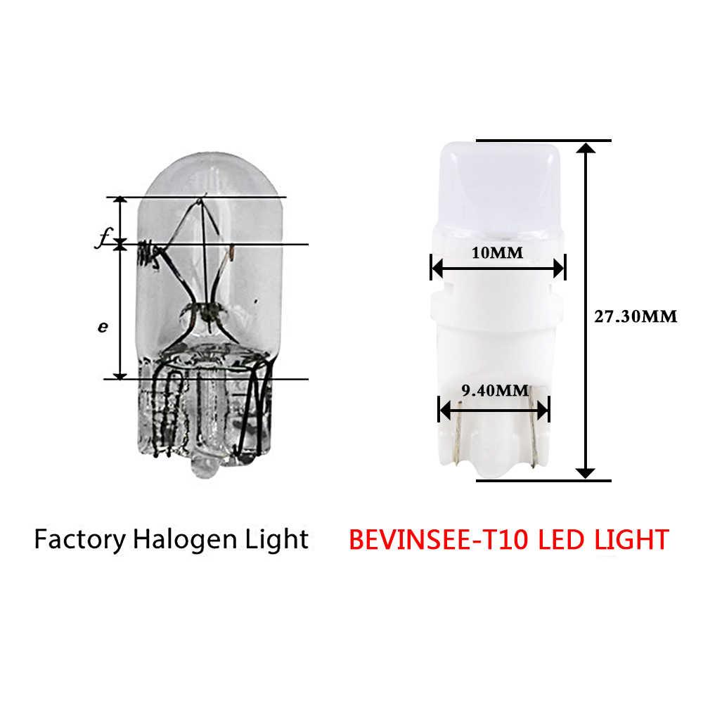 Ampoule blanche de plaque d'immatriculation d'ampoule de stationnement de voiture de T10 W5W LED pour BMW S1000R F650GS K1300R R1200R HP2 Megamoto K1200R C650GT