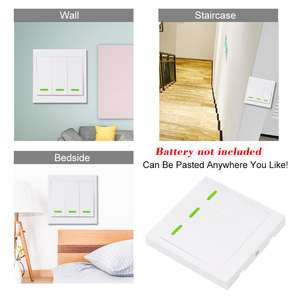 Image 5 - Wireless Remote Transmitter Sticky RF Intelligent Switch for Home Living Room Bedroom 433MHZ 86 Wall Panel Switches Smart Home