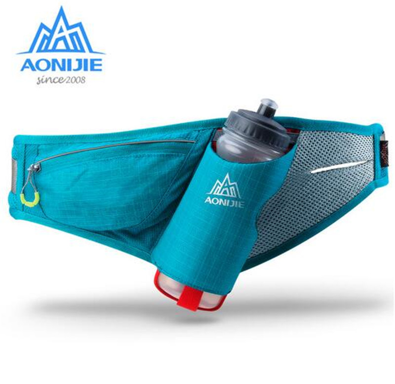 AONIJIE Sport Marathon Hydration Belt Running Free Running Tillbehör Water Belt Fanny Pack Män Women Waist Packs