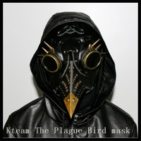 Top Grade Steampunk The Plague Bird mask Doctor Long Nose Cosplay Fancy Mask Exclusive Gothic Retro Rock Leather Halloween mask