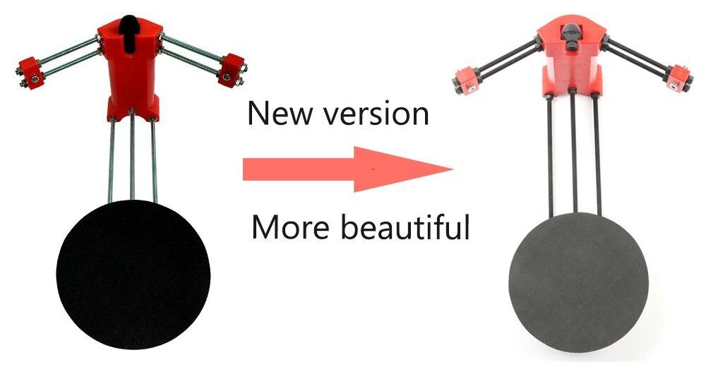 DIY básico 3D scanner, moldagem por injeção de plástico vermelho