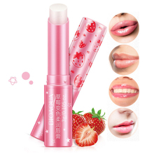 BIOAQUA Natural Strawberry Discoloration Lip Balm Colorless Long Lasting Lips Skin nourishing Care Lipsticks Waterproof