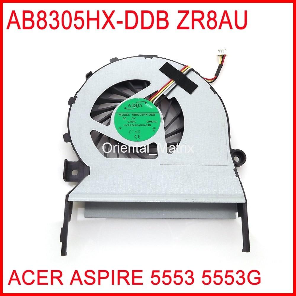 New AB8305HX-DDB ZR8AU DC5V 0.50A Cooler Fan For ACER ASPIRE 5553 5553G CPU Cooling Fan