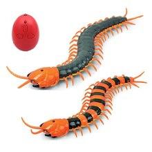 Собака игрушки электрические rc сороконожка поддельные насекомых пульт дистанционного управления сороконожка творческий электрический животных шутки игрушки хитрый funny cat игрушки для собак