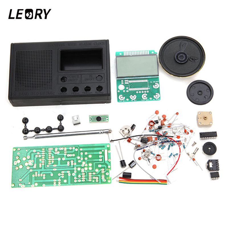 LEORY DIY FM Radio Kit Electronic Learning Assemble Suite Parts For FM Radio Electronic Training Teaching Production Suite