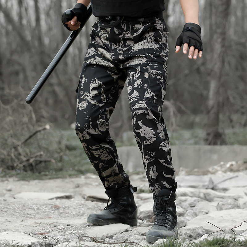 Mens Combat Tactical Cargo Forces Work Army Long Pants Military Outdoor Trousers
