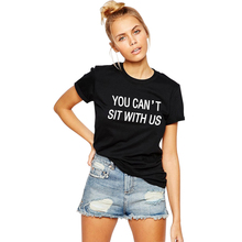 VI FASHION H862 New fashion Women Summer T Shirt With White Letters Print Black Punk Tee Shirt Femme In Plus Size For Retailing
